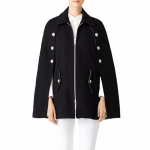 See by Chloe Black Military Button Cape